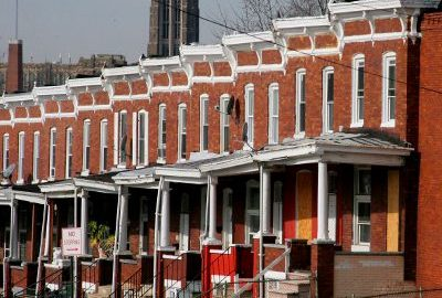 Baltimore Row Homes.